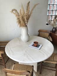 reserviert vintage travertin esstisch modern tisch marmor