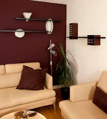 Red Black And Brown Living Room Ideas by Maroon Wall Modern Living Room Living Room Decor Pinterest