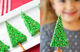 Rice Krispie Christmas Tree Pops by 20 Cool Christmas Treats Using Kellogg U0027s Rice Krispies U2013 Forkly