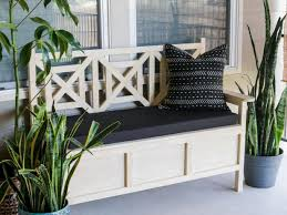 how to build an outdoor bench with storage hgtv