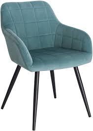 woltu esszimmerstuhl aus samt metallbeine kariert modell farbe türkis