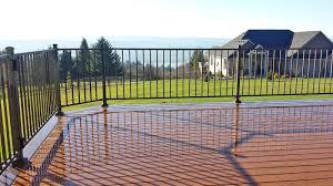 deck railing vancouver wa cascade fence deck