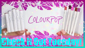 Check It Out Tuesday! ColourPop Lippie Stix & Lippie Pencils Huge Colourpop Haul Lipsticks Eyeshadows Foundation Palettes More Colourpop Blushes Tips And Tricks Demo How To Apply A Discount Or Access Code Your Order Colourpop X Eva Gutowski The Entire Collection Tutorial Swatches Review Tanya Feifel Ultra Satin Lips Lip Swatches Review Makeup Geek Coupon Youtube Dose Of Colors Full Face Using Only New No Filter Sted Makeup Favorites Must Haves Promo Coupon