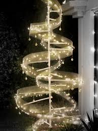 Xmas Tree Made Of Lights Christmas Outdoor Abstract Diy Led Pvc Pipe
