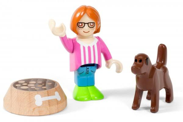 Brio World 33952 Girl and Dog Figure Toy Set