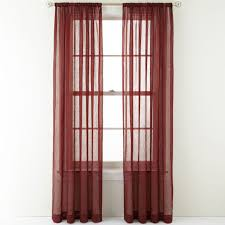 Crushed Voile Curtains Grommet by Crushed Voile Rod Pocket Sheer Panel Palmetto Red U2013 The Curtain