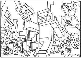 10 Minecraft Coloring Pages