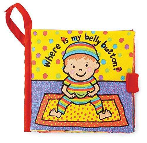 Jellycat Soft Book Where Is My Belly Button?