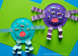 Paper Plate Monster Kids Craft