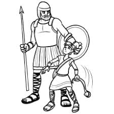 David And Goliath Exodus Coloring Page