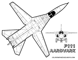 Mighty Military Airplane Coloring