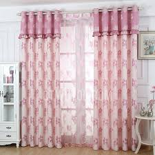 Curtains For Girls Room by Poly Cotton Blend Pastoral Floral Patterned Blackout Curtain For
