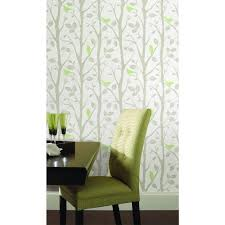 NuWallpaper Grey And Green Sitting In A Tree Peel And Stick ... Graham Brown 56 Sq Ft Brick Red Wallpaper57146 The Home Depot Wallpaper Canada Grey And Ochre Radiance Removable Wallpaper33285 Kenneth James Eternity Coral Geometric Sample2671 Mural Trends Birds Of A Feather Stunning Pattern For Bathroom Laura Ashley Vinyl Anaglypta Deco Paradiso Paintable Luxury Wallpaperrd576 Gray Innonce Wallpaper33274 Brewster Blue Ornate Stripe Striped Wallpaper Shower Tub Tile Ideasbathtub Ideas See Mosaic