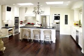 Modern White Kitchens With Wood Floors What Color Floor Dark Cabinets Light Countertops Flooring Go Kitchen Island Tile Tiles Living Room Oak Black And Grey