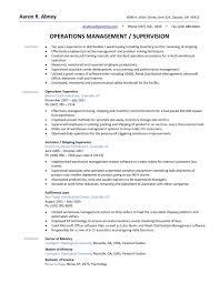 Resume Sample For Manufacturing Supervisor Best Production Samples Machine Operator