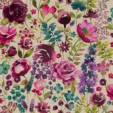 Jacobean Floral Design Curtains by Misty Moors Floral Fabric Floral Fabrics And Bedrooms