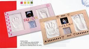 kit empreinte bébé cadre rect blanc tout à creer