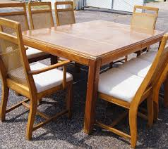 Cane Back Dining Room Set With Custom Wicker Side Chair Of 6 Design