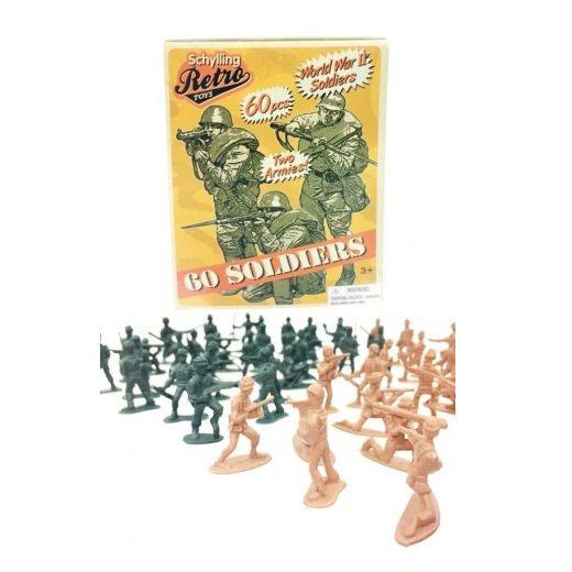 Schylling Retro Mini Soldier 60 Pack