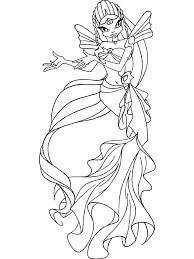 Winx Mermaid Coloring Pages 13