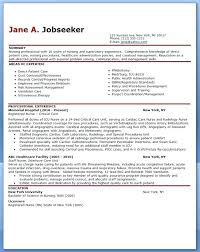 New Nurse Resume Template Example Sample Free Download