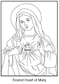 Free Coloring Page The Immaculate Heart Of Mary