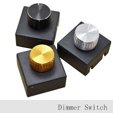 3Pcs 220V 3A Lamp Knob Dimmer Switch Hotel Bedside Table Lamp Wall