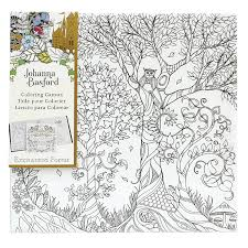 Amazon Johanna Basford Enchanted Forest Coloring Canvas