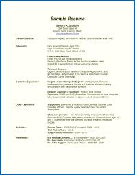 Resume High School Graduate Example Examples For With 19 Interesting Sample Of