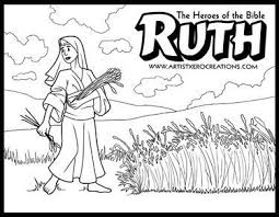 Z Cc Ruth Art Galleries In And Boaz Coloring Pages