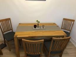 royal oak tisch 4 stühle 1 jahr alt dänisches bettenlager