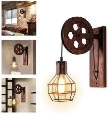 wandleuchte le leuchte vintage verstellbar metall wandle antik wandle rustikal für landhaus schlafzimmer wohnzimmer