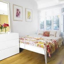White Bedroom With Floral Patchwork Throw PicturesBedroom IdeasBedroom ColoursWhite BedroomsBeautiful BedroomsSimple WayHouse