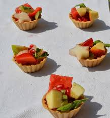 what does canape n easy cooking fruit chaat