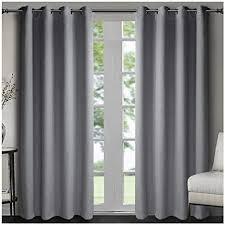 singinglory 99 blickdichte ösen vorhang mit raffhalter 2er set verdunklung gardinen in leinen optik für wohn oder schlafzimmer grau 167x228cm