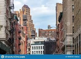 100 Tribeca Roof View Of The Old Buildings And Water Towers In The