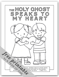 Holy Ghost Coloring Page FREE Via A YEAR OF FHE