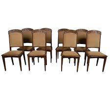 Set Of 8 French Art Nouveau Dining Chairs - Castle Antiques & Design Set Of 4 Quality Art Nouveau Golden Oak High Slat Back Ding Chairs 554 Art Nouveau Ding Table And Chairs 3d Model Vintage 6 Antique French 1900 Walnut Nailhead Set 8 Edwardian Satinwood Beech Four Art Nouveau Louis Majorelle Ding Chairs Jan 16 2019 Room And Sale Mid Century Hand Made Game By Terry Bostwick Casa Padrino Luxury Dark Brown Cream 51 X Round In The Unique Timeless Tufted Armchair Chair Blue Velvet Navy 1900s Vinterior