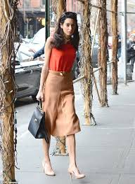 70s Earth Toned Outfit Amal Clooney