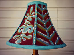 Rustic Decor DIY Painted Lampshade Fixed