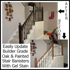 Updating A Painted Banister With Gel Stain Java Gel Stain Banister Diy Projects Pinterest Gel Remodelaholic Stair Makeover Using How To A Angies List My Humongous Stairs Fail Kiss My Make Wood Stairs Treads For Cheap Simply Swider Stair Railing Cobalts House Staircase Reveal Cut The Craft Updating A Painted With An Ugly Oak Dark All Things Thrifty 30 Staing Filling Holes And