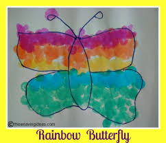 Rainbow Butterfly Using Dot Markers
