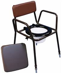 Handicap Toilet Chair With Wheels by Commode Chairs
