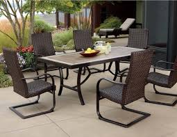 incredible 7 piece wicker patio dining set dimension industries