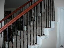 Model Staircase: Replace Spindles On Staircase Wrought Iron ... Wrought Iron Stair Railing Idea John Robinson House Decor Exterior Handrail Including Light Blue Wood Siding Ornamental Wrought Iron Railings Designs Beautifying With Interior That Revive The Railings Process And Design Best 25 Stairs Ideas On Pinterest Gates Stair Railing Spindles Oil Rubbed Balusters Restained Post Handrail Photos Freestanding Spindles Installing