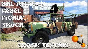 BeamNG Drive BKL African Rebel Pickup Truck Crash Testing #73 - YouTube 1979 Chevy Silverado K20 Gmc Pickup Frontal Crash Test By Nhtsa Coke Truck Accident Youtube Caught On Video Semi Goes Airborne Erupts Into Fireball In Indiana Lego City 2017 Stunt Truck Lets Build 60146traffic Car Smashes Overpass Most Insane Crashes Compilation 8 Dash Cam Video Shows Horrific High Speed Crash Watch News Videos 2 Killed When Crashes Tree Along I80 Trucker Jukebox On I12 Louisiana 3 Rc Radio Control Bashing Hits Funny Accident In India Livestock I75