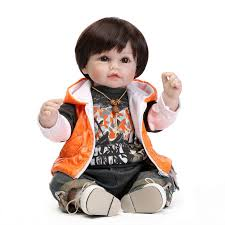 52CM Silicone Reborn Baby Dolls For Sale Cute Boy Dolls With Clothes