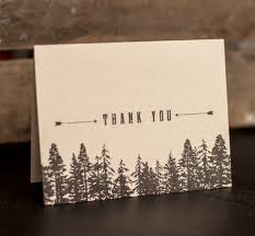 Rustic Wedding Thank You Cards Trees Forest