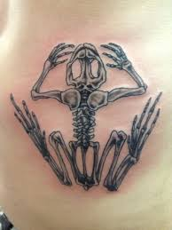 Navy Frog Tattoo Skeleton
