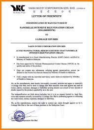 5 letter of indemnity format